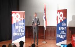 Кандидат Двери Бошко Обрадовић на трибини у Врбасу
